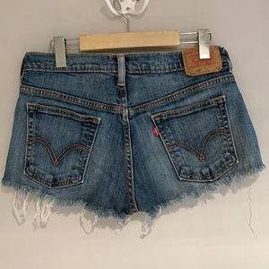 LEVIS 515 ripped jeans shorts Size 8 (29)